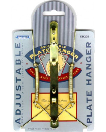 ADJUSTABLE PLATE HANGER 140mm - 305mm  (5 1/2 - 12 inches)