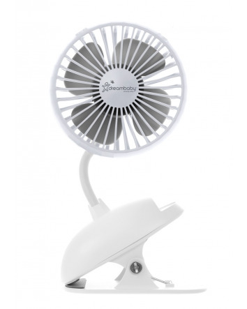 USB RECHARGEABLE CLIP-ON FAN - WHITE