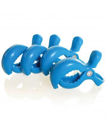 STROLLERBUDDY® STROLLER CLIPS 4 PACK - DARK/ROYAL BLUE