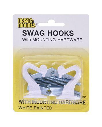 SWAG HOOKS - WHITE 2 PACK