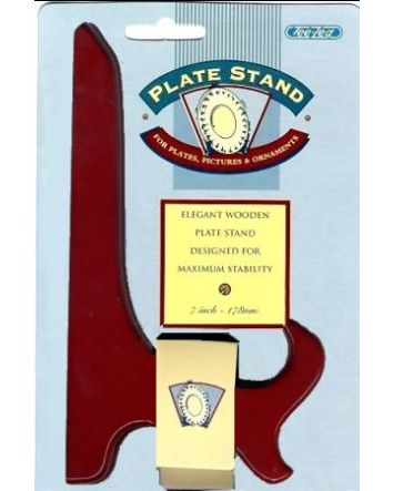 """ROSEWOOD PLATE STAND 7"""""""